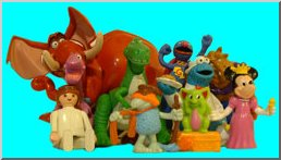 An assortment of toy figures